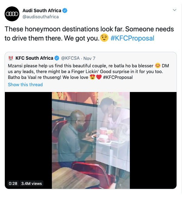 #KFCProposal Marketing At It Best